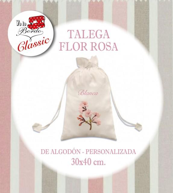 Bolsa Flor Rosa Grande