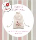 BOLSA FLOR ROSA GRANDE PERSONALIZADA