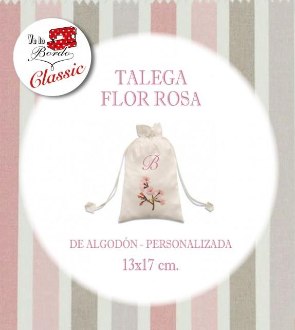 Bolsa Flor Rosa Pequeña