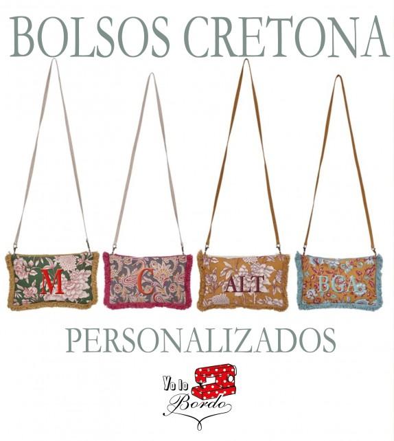 Bolso Cretona Bordado