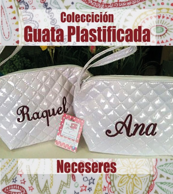 Neceser Guata Plastificado Bordado