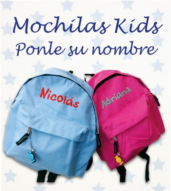 Mochila Infantil Bordada