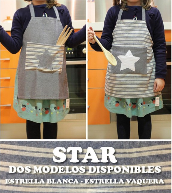 Delantal Kids Star Bordado