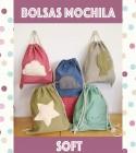 Bolsa Mochila Soft bordado
